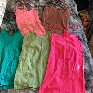 Tops - 5 pack stretchy fitted racerback tank tops